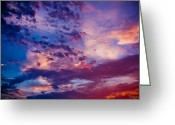 Bonnes Eyes Fine Art Photography Greeting Cards - Purple Blues Greeting Card by Bonnes Eyes Fine Art Photography