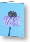 Coneflower Painting Greeting Cards - Purple Coneflower Mature Greeting Card ...