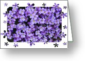 Tiny Flowers Greeting Cards - Purple Flowers Card or Poster Greeting Card by Carol Groenen