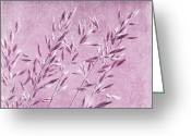Delicate Mixed Media Greeting Cards - Purple gras Greeting Card by Angela Doelling AD DESIGN Photo and PhotoArt