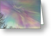 Lights Greeting Cards - Purple Haze Greeting Card by Ed Boudreau