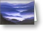 Spiritual Art Pastels Greeting Cards - Purple Haze Greeting Card by Elise Okrend