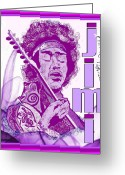 Rock And Roll Greeting Cards - Purple Haze Greeting Card by Jason Kasper