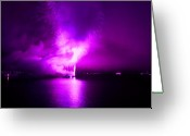 Eutemey Greeting Cards - Purple Haze Greeting Card by Kendall Eutemey