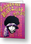 The Doors Mixed Media Greeting Cards - Purple Haze Greeting Card by Victor Cavalera