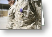 Award Photo Greeting Cards - Purple Heart Recipients Greeting Card by Stocktrek Images