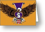Freedom Fighter Brand Greeting Cards - Purple Heart Greeting Card by Scarlett Royal