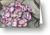 Ken Greeting Cards - Purple Hydrangea Greeting Card by Ken Powers