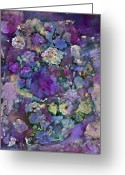 Fine Home Art And Theater Greeting Cards - Purple Melody Greeting Card by Don  Wright