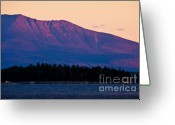 Baxter Park Greeting Cards - Purple Mountains Majesty Greeting Card by Susan Cole Kelly
