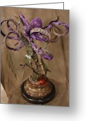 Still Life Sculpture Greeting Cards - Purple Octopus Greeting Card by John Townsend