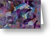 Oyster Mixed Media Greeting Cards - Purple Passion  Greeting Card by Don  Wright