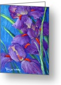 Realistic Pastels Greeting Cards - Purple Passion Greeting Card by Tanja Ware