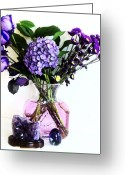 Decor Floral Picture Cards Greeting Cards - Purple Picture Perfect Greeting Card by Marsha Heiken