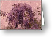 Layered Greeting Cards - Purple Pleasures Greeting Card by Angie McKenzie