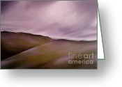 Dawn Jones Greeting Cards - Purple Skies Greeting Card by Dawn Jones