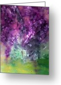 Chromatic Painting Greeting Cards - Purple Vortex Painting Greeting Card by Don  Wright