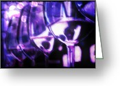 Cocktails Pastels Greeting Cards - Purple Wine Bar Greeting Card by D Rogale
