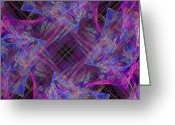 Twirl Greeting Cards - Purples II Greeting Card by Ricky Barnard