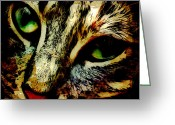 Kitty Digital Art Greeting Cards - Purr-fect Love Greeting Card by David G Paul