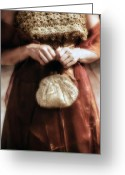 Scarf Greeting Cards - Purse Greeting Card by Joana Kruse
