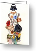 Pocket Painting Greeting Cards - Purses Greeting Card by Mary Zwirn