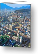 Cityscape Pyrography Greeting Cards - Pusan City South Korea 2012 Greeting Card by Eduard Kraft