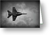 Military Aircraft Greeting Cards - Pushing The Envelope Greeting Card by Jeffrey Campbell