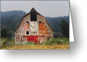 Cabin Window Greeting Cards - Put on a Happy Face Greeting Card by Debra and Dave Vanderlaan