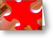 Size Different Greeting Cards - Puzzled Greeting Card by Kevin D Davis