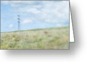 Otago Greeting Cards - Pylon Greeting Card by Jill Ferry