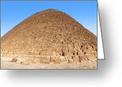 Archeology Greeting Cards - Pyramid Giza. Greeting Card by Jane Rix