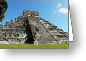 Ancient Civilization Greeting Cards - Pyramid Of Kukulcan Greeting Card by Cute Kitten Images
