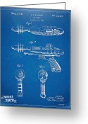 High Resolution Greeting Cards - Pyrotomic Disintegrator Pistol Patent Greeting Card by Nikki Marie Smith