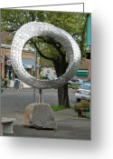 Great Sculpture Greeting Cards - Q mobius Greeting Card by Ben Dye