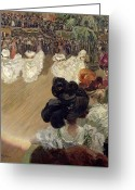 Floor Painting Greeting Cards - Quadrille at the Bal Tabarin Greeting Card by Abel-Truchet