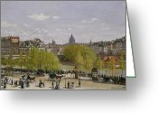 Signature Greeting Cards - Quai du Louvre in Paris Greeting Card by Claude Monet