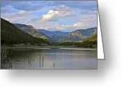 Gallatin River Greeting Cards - Quake Lake Greeting Card by Karon Melillo DeVega