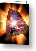 Quantum Mechanics Greeting Cards - Quantum Computing, Conceptual Image Greeting Card by Victor De Schwanberg