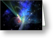 Orbit Greeting Cards - Quantum Filament Greeting Card by Corey Ford