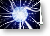 Quantum Mechanics Greeting Cards - Quantum Sphere Greeting Card by Richard Kail
