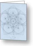 Albert Drawings Greeting Cards - Quantum Star high res. Greeting Card by Jason Padgett