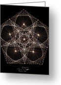 Geometry Greeting Cards - Quantum Star II Greeting Card by Jason Padgett