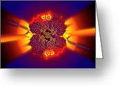 Chaos Theory Greeting Cards - Quantum Tunneling Greeting Card by Eric Heller