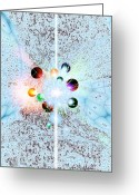 Quantum Mechanics Greeting Cards - Quantum Universe Greeting Card by Richard Kail