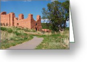 Adobe Greeting Cards - Quarai - National Historic Landmark Greeting Card by Christine Till