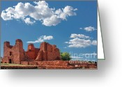 Adobe Greeting Cards - Quarai ruins at Salinas Pueblo Missions National Monument Greeting Card by Christine Till