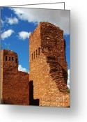 Pueblos Greeting Cards - Quarai Salinas Pueblo Missions National Monument Greeting Card by Christine Till