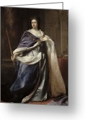 British Royalty Painting Greeting Cards - Queen Anne Greeting Card by Edmund Lilly