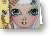 Jaz Greeting Cards - Queen Bee Greeting Card by Jaz Higgins